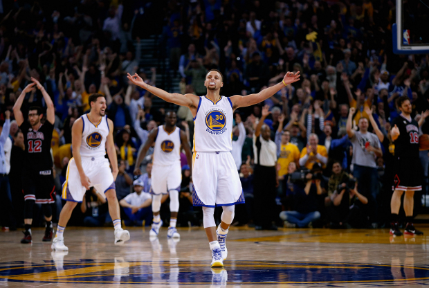Stephen Curry celebrando con Golden State