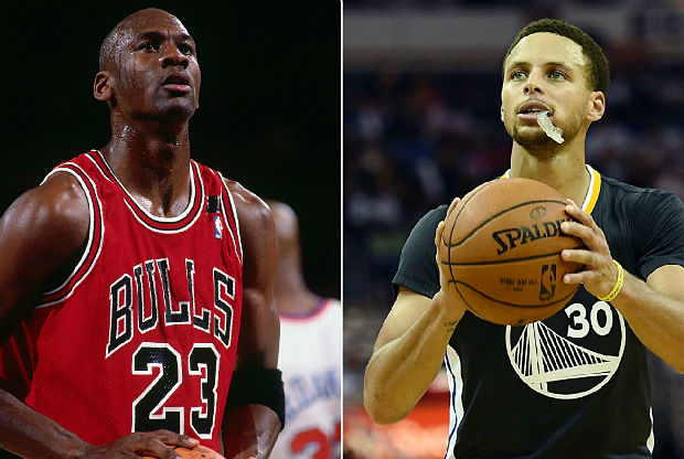 Michael Jordan y Stephen Curry