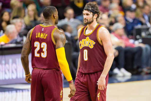 Kevin Love y LeBron James