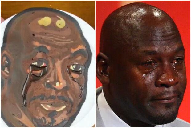 Michael Jordan en forma de pancake