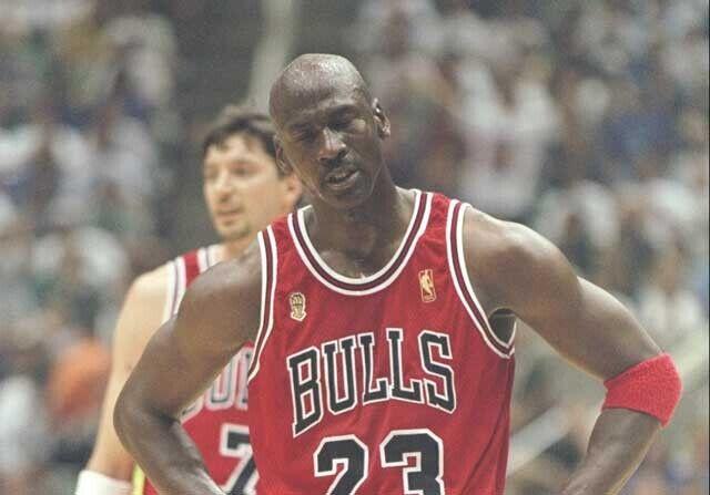 Michael Jordan jugando con Chicago Bulls