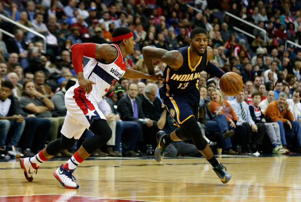 Paul George jugando con Indiana Pacers
