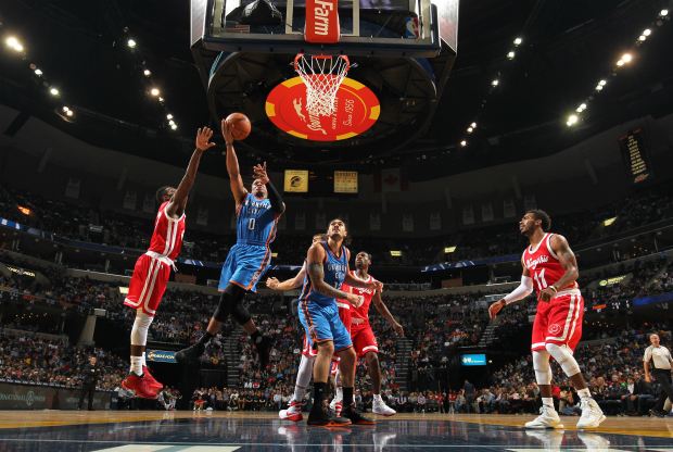 Rusell Westbrook ante Memphis Grizzlies