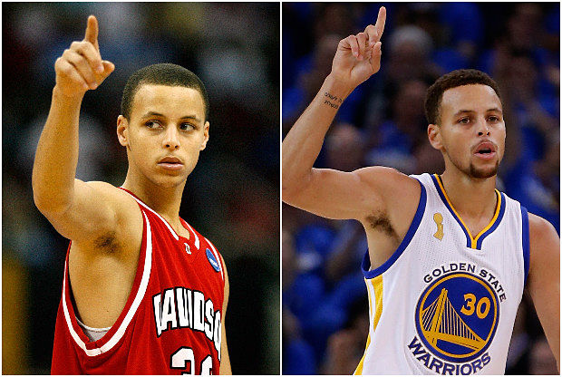 Stephen Curry, desde el instituto a la NBA
