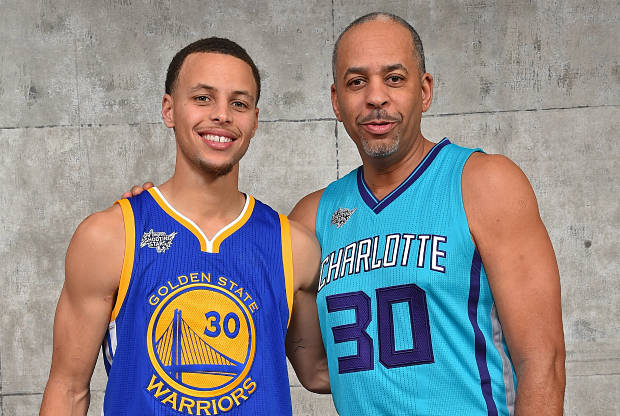 Stephen Curry y su padre Dell Curry