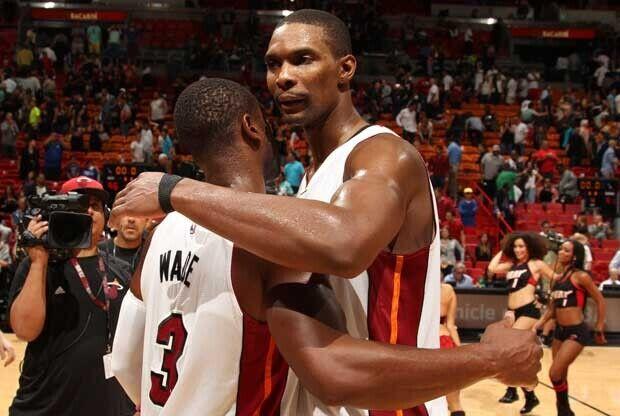 Dwyane Wade y Chris Bosh