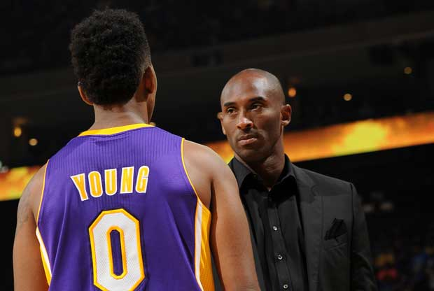 Nick Young y Kobe Bryant
