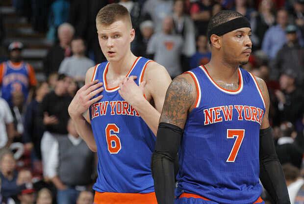 Carmelo Anthony - Kristaps Porzingis New York Knicks
