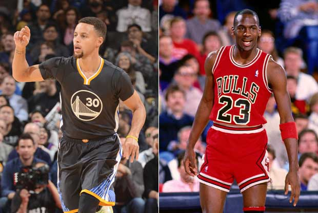 Stephen Curry y Michael Jordan, comparados