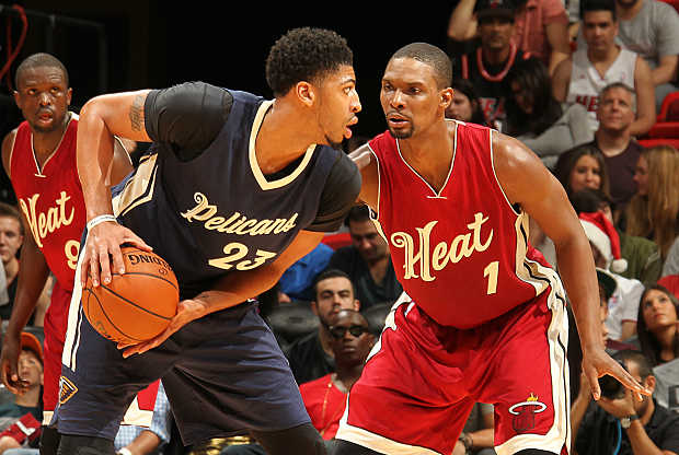 Anthony Davis vs Chris Bosh en la NBA