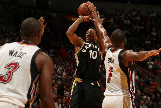 DeMar Derozan contra Miami Heat