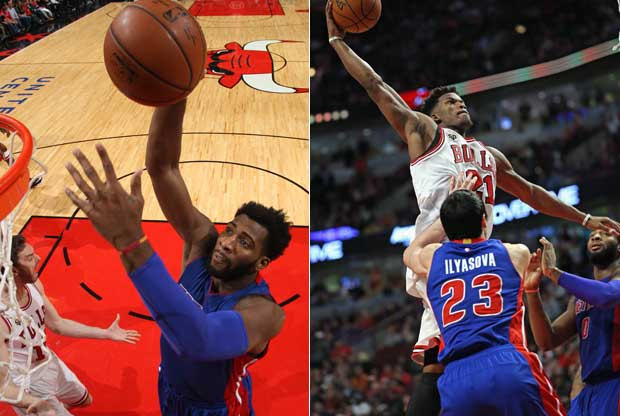 Andre Drummond y Jimmy Butler