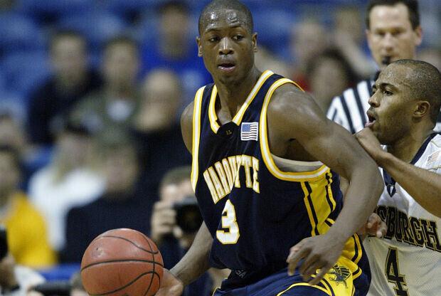 Dwyane Wade jugando en la universidad