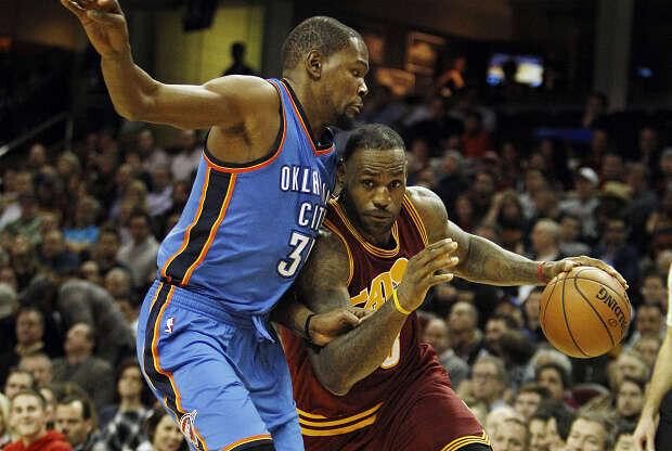 Kevin Durant y LeBron James cara a cara