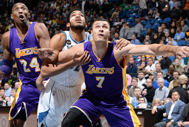 Kobe Bryant partido ante Minnesota Timberwolves.