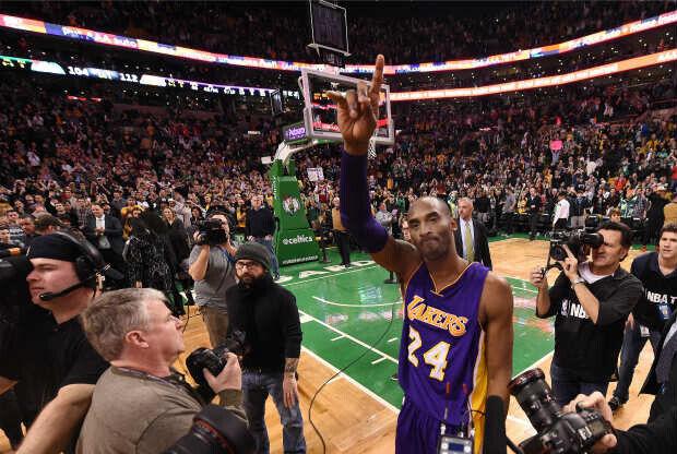 Kobe Bryant en el Boston Garden