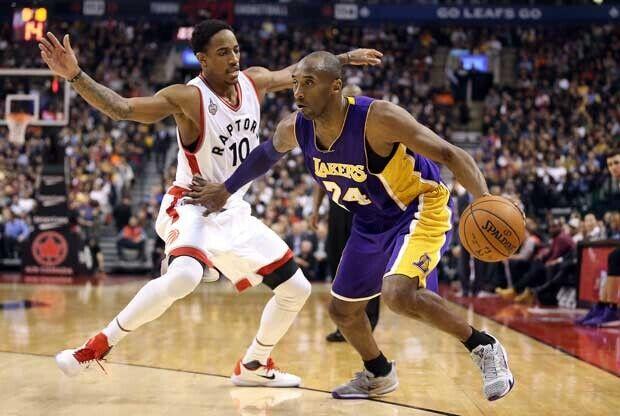 Kobe Bryant se deshace de DeMar DeRozan