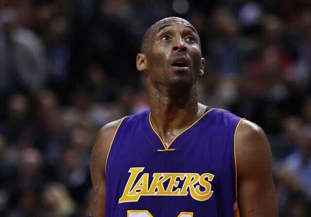 Kobe Bryant, con cara de sorpresa