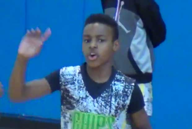 LeBron James Jr., antes de un partido