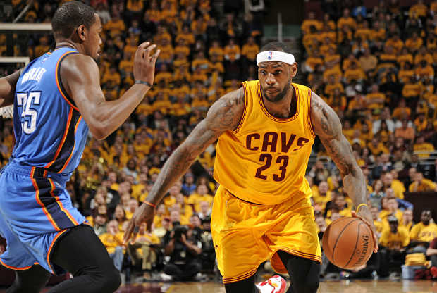 LeBron James - Kevin Durant duelo