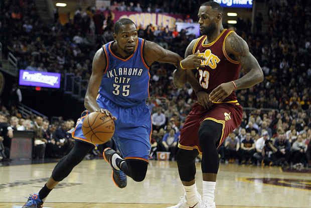 LeBron James - Kevin Durant duelo Quicken Loans Arena