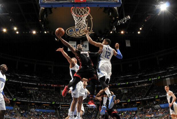 Miami Heat jugando contra Orlando Magi