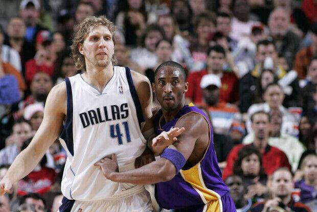 Dirk Nowitzki contra Kobe Bryant en la NBA