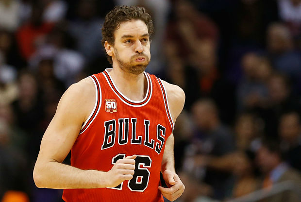 Pau Gasol con la camiseta de Chicago Bulls