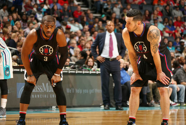 Chris Paul y JJ Redick en un partido