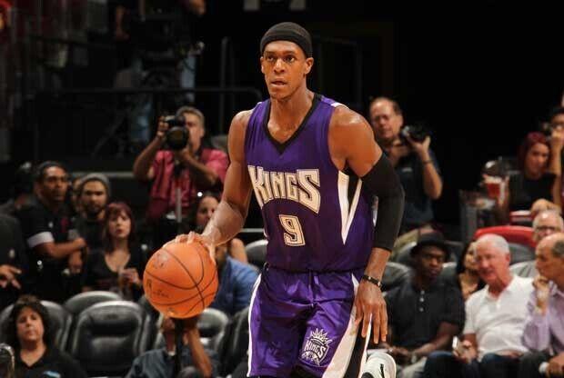 Rajon Rondo, con Sacramento Kings