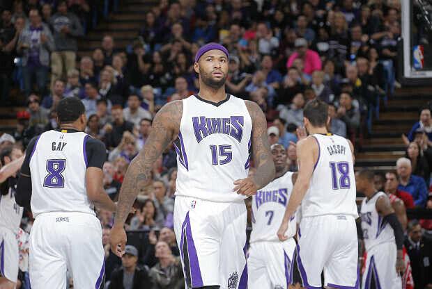 Los jugadores de Sacramento Kings