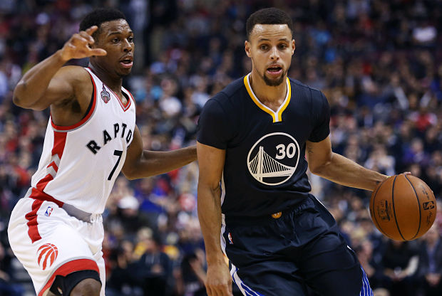 Stephen Curry y Kyle Lowry cara a cara
