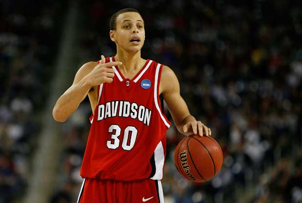Stephen Curry, con la Universidad de Davidson