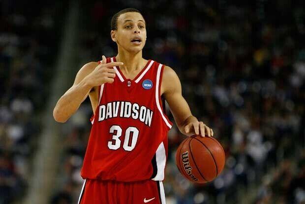 Stephen Curry, con la Universidad de Davidson