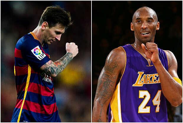 Leo Messi y Kobe Bryant, dos estrellas del deporte mundial