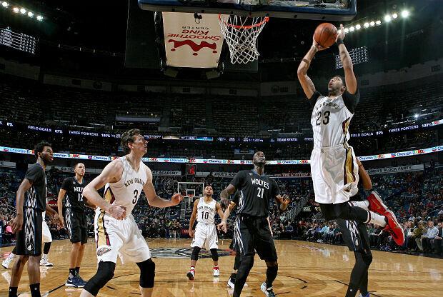 Anthony Davis anotó 35 puntos en la victoria de Pelicans