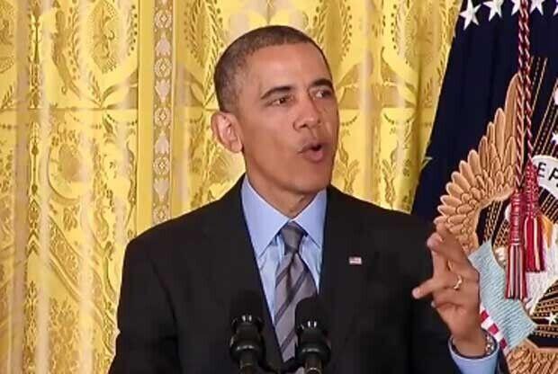 Barack Obama, durante un discurso presidencial