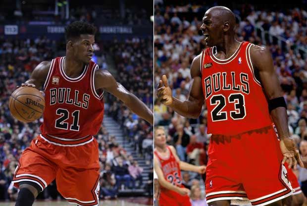 Jimmy Butler y Michael Jordan