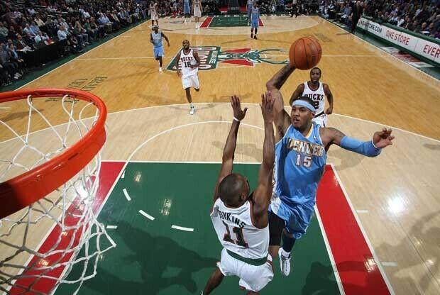 Carmelo Anthony, en su etapa en Denver Nuggets