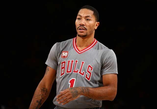 Derrick Rose, en un partido con Chicago Bulls