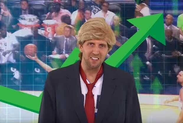 Dirk Nowitzki parodia a Donald Trump