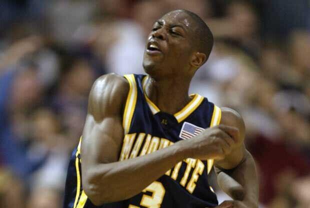 Dwyane Wade, como jugador de la Universidad de Marquette
