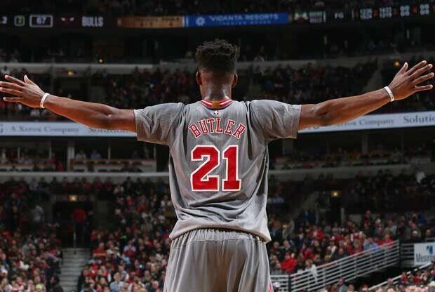Jimmy Butler, en un partido con Chicago Bulls