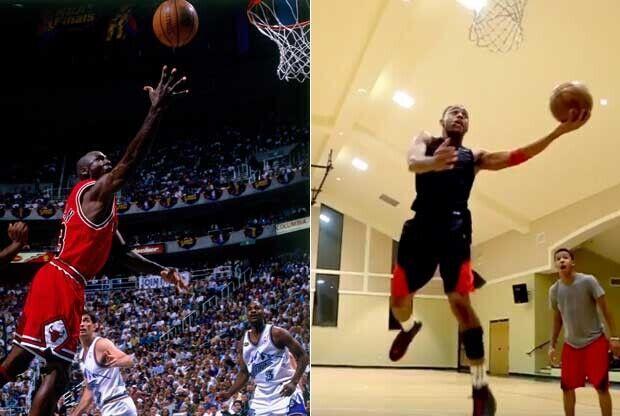 Michael Jordan y Brandon Armstrong