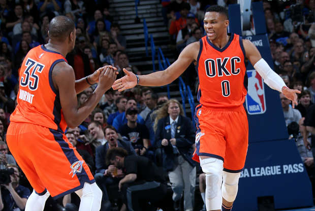Kevin Durant - Russell Westbrook Oklahoma City Thunder