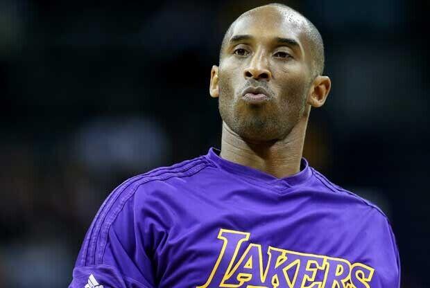 Kobe Bryant, en un calentamiento de los Lakers