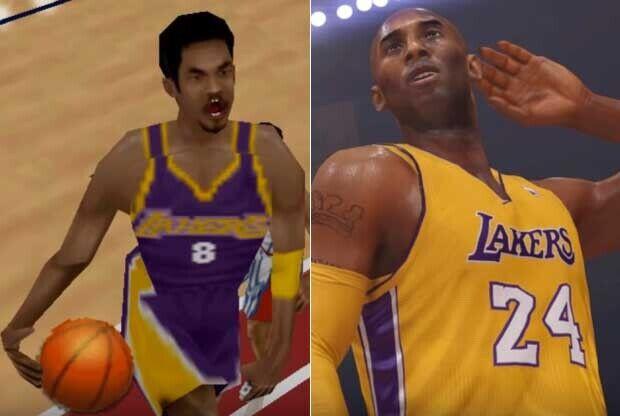 La carrera de Kobe Bryant, a través de los videojuegos