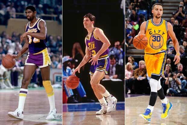 Magic Johnson, John Stockton y Stephen Curry