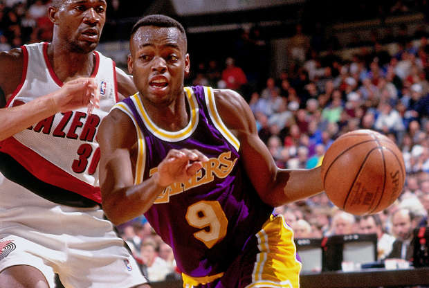 Nick Van Exel, jugador de Los Angeles Lakers