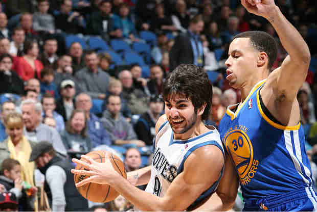 Ricky Rubio Y Stephen Curry duelo